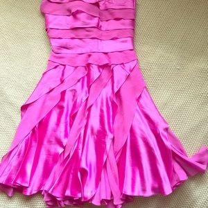 HOT Pink 100% Silk Tadashi dress